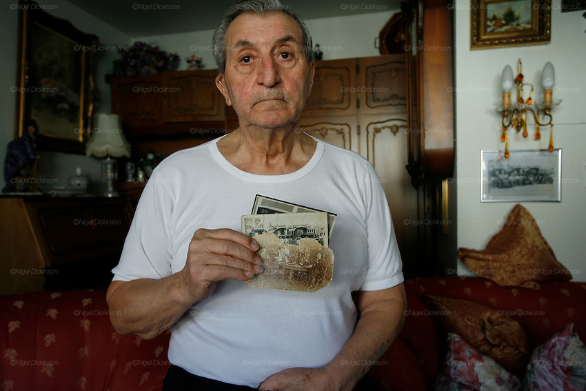 "Walter Stanoski Winter, Sinti Holocaust survivor, resident in Hamburg..The Deportation of Jews, Roma and Sinti in Hamburg 1940-45. Roma and Sinti Holocaust survivors. Conference and exhibition. Roma Holocaust ""Porrajmos"", the Roma word means literally ""the devouring"", where it is estimated that between 500 thousand and one and a half million Roma were exterminated across Germany, Poland, ex-Yugoslavia and Czechoslovakia during the 1930s and 1940s. The Roma were the first race to be subjected to experimentation by the Nazis, as part of Joseph Goebbels' 'Final Solution'."
