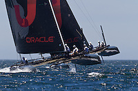 PORTUGAL, Cascais. 5th August 2011. America's Cup World Series. Practice day. Oracle vs Oracle.