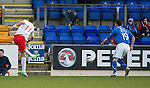St Johnstone v Ross County...15.03.14    SPFL<br /> Melvin De Leeuw scores for Ross County<br /> Picture by Graeme Hart.<br /> Copyright Perthshire Picture Agency<br /> Tel: 01738 623350  Mobile: 07990 594431