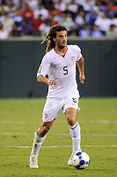 Kyle Beckerman (5) of the United States (USA). The United States (USA) defeated Panama (PAN) 2-1 during a quarterfinal match of the CONCACAF Gold Cup at Lincoln Financial Field in Philadelphia, PA, on July 18, 2009.