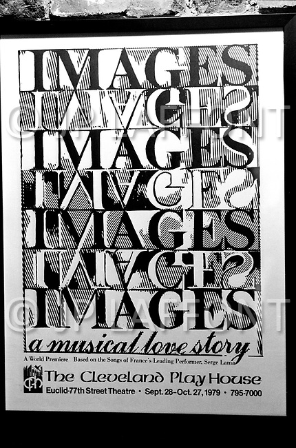 Cleveland, Ohio, September 28th, 1979 - Poster advertising Images singing group performing English versions of French singer Serge Lama's music.