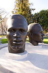 Jackie Robinson statue with brother in Pasadena, CA