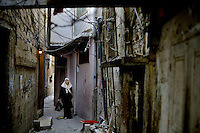 Ein el-Hilweh / Ain el-Hilweh, Saida / Sidon , Lebanon 20081022 - Palestinian reguees in Lebanon - An old lady in the largest Palestinian refugee camp in Lebanon - Ein el-Hilweh. Photo/copyright: Torbjorn Gronning