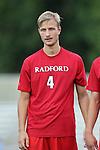 19 August 2014: Radford's Jo Vetle Rimstad (NOR). The Duke University Blue Devils hosted the Radford University Highlanders at Koskinen Stadium in Durham, NC in a 2014 NCAA Division I Men's Soccer preseason match.
