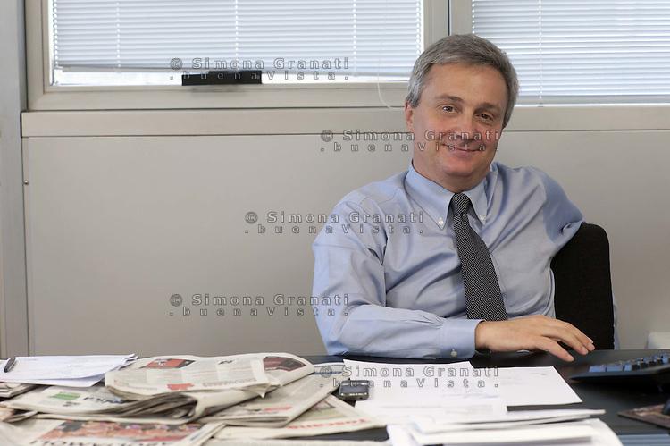 Roma, 7 Luglio 2011..Claudio Sardo, direttore del quotidiano  L'Unità..Claudio Sardo, director of the newspaper L'Unità .