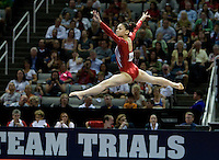 Kyla Ross of Gym-Max competes on the floor during 2012 US Olympic Trials Gymnastics Finals at HP Pavilion in San Jose, California on July 1st, 2012.