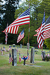 Graves of Civil War veterans, Sequim Cemetery, on Memorial Day.