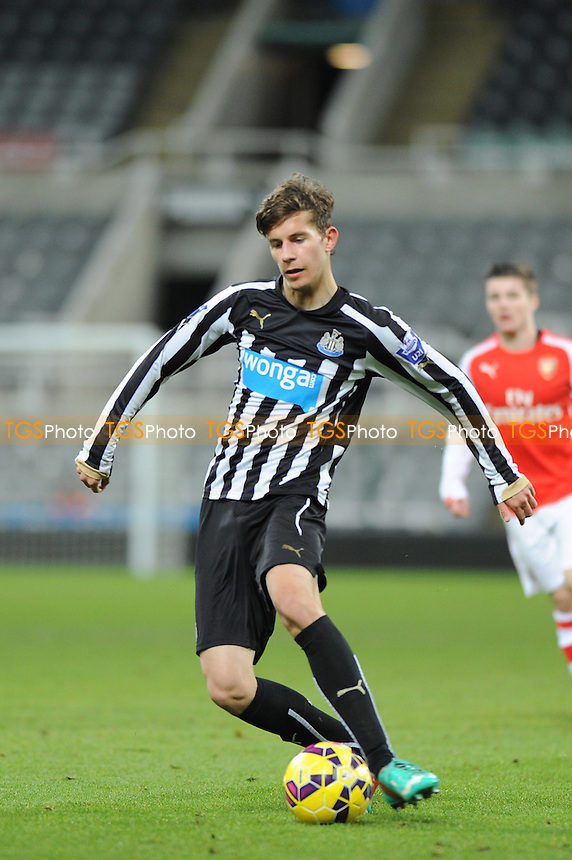 Lubomir Satka of Newcastle United - Newcastle United Under-21 vs Arsenal Under-21 - Barclays Under-21 Premier League Football at St James Park, Newcastle United FC - 09/02/15 - MANDATORY CREDIT: Steven White/TGSPHOTO - Self billing applies where appropriate - contact@tgsphoto.co.uk - NO UNPAID USE