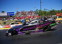 May 7, 2017; Commerce, GA, USA; NHRA funny car driver Dave Richards (near) races alongside Matt Hagan during the Southern Nationals at Atlanta Dragway. Mandatory Credit: Mark J. Rebilas-USA TODAY Sports