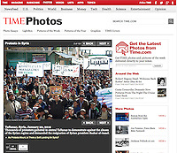 Screengrab of &quot;Protests in Syrian&quot; published in TIME.com
