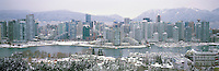 Vancouver, BC, British Columbia, Canada - City Skyline, False Creek, Yaletown Highrise Buildings, North Shore Mountains (Coast Mountains), Winter - Panoramic View