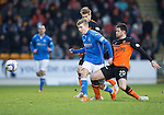 St Johnstone v Dundee United...27.12.14   SPFL<br /> David Wotherspoon is tackled by Calum Butcher<br /> Picture by Graeme Hart.<br /> Copyright Perthshire Picture Agency<br /> Tel: 01738 623350  Mobile: 07990 594431