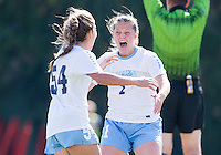 Chapel Hill, NC - October 30, 2016: The North Carolina Tarheels defeated the Virginia Cavaliers 3-0 during their ACC quarterfinal tournament match at Fetzer Field.