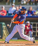 7 March 2013: Houston Astros outfielder Fernando Martinez hits a single during a Spring Training game against the Washington Nationals at Osceola County Stadium in Kissimmee, Florida. The Astros defeated the Nationals 4-2 in Grapefruit League play. Mandatory Credit: Ed Wolfstein Photo *** RAW (NEF) Image File Available ***