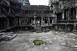 Inside the central temple complex at Angkor Wat, Cambodia. June 7, 2013.