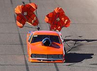 Feb 24, 2017; Chandler, AZ, USA; NHRA top sportsman driver Lynsi Snyder-Ellington during qualifying for the Arizona Nationals at Wild Horse Pass Motorsports Park. Mandatory Credit: Mark J. Rebilas-USA TODAY Sports