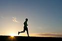 PE00263-00...WASHINGTON - Pierce Prohovost jogging in Edmonds. (MR# P9)