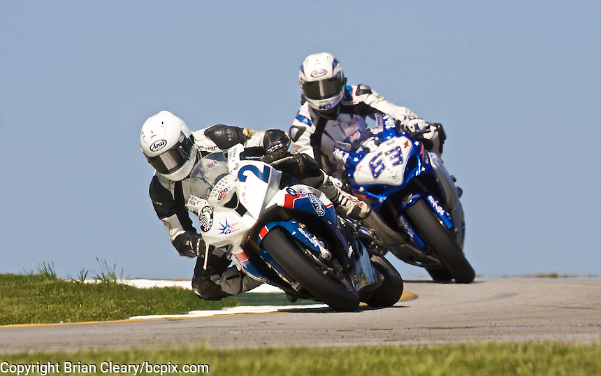 Dane Westby leads another motorcycle at the AMA Superbike Showdown at Road Atlanta, Braselton, GA, April 2010.  (Photo by Brian Cleary/www.bcpix.com)