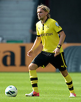 FUSSBALL   DFB POKAL   SAISON 2012/2013   1. Hauptrunde FC Oberneuland - Borussia Dortmund            18.08.2012 Marcel Schmelzer (Borussia Dortmund) Einzelaktion am Ball