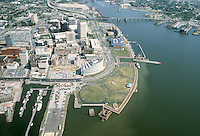 1983 September..Redevelopment.Downtown South (R-9)..WATERFRONT.WATERSIDE.TOWN POINT PARK.LOOKING EAST...NEG#.NRHA#..