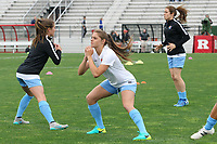 Piscataway, NJ - Saturday May 20, 2017: Mckenzie Meehan, Erica Skroski, Kelley O'Hara prior to a regular season National Women's Soccer League (NWSL) match between Sky Blue FC and the Houston Dash at Yurcak Field.  Sky Blue defeated Houston, 2-1.