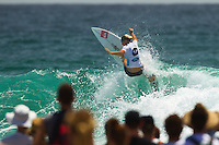 SNAPPER ROCKS, Queensland/Australia (Sunday, March 4, 2012)  The final day of the Quiksilver and Roxy Pro Gold Coast presented by Land Rover culminated today with perennial ASP World Title threat Taj Burrow (AUS), 33, and four-time ASP Womens World Champion Stephanie Gilmore (AUS), 24, taking the respective wins in clean two-to-three foot (1 metre) waves at the primary venue of Snapper Rocks.. .The opening stop on the 2012 ASP World Championship Tour, the Quiksilver and Roxy Pro Gold Coast enjoyed sunny weather, light winds and a capacity crowd for the final day of competition, with the worlds best surfers putting on a spectacular display of high-performance surfing.. .Burrow defeated dangerous South American Adriano De Souza (BRA), 25, in a Final that came down to the wire. De Souza caught a wave in the dying minutes and launched into a massive air-reverse, requiring a 7.87 out of a possible 10 to take the lead. The judges deliberated until after the siren sounded and when it was announced that De Souza came a mere 0.27 short, Burrow was chaired up the beach and declared the 2012 Quiksilver Pro Gold Coast champion..Stephanie Gilmore (AUS), 24, reigning four-time ASP Womens World Champion, her fourth Roxy Pro Gold Coast title after defeating ASP Top 17 sophomore Laura Enever (AUS), 20, in a hard-fought Final. Gilmore was dominant throughout the event, posting scores in the excellent range in every encounter throughout the draw. Gilmore jumps back to No. 1 on the ASP Womens World Championship Tour ratings, a spot she lost at this event last year after holding it for four years.. Photo: joliphotos.com