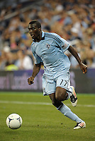 Sporting forward C.J Sapong (17) in action..Sporting Kansas City defeated Colorado Rapids 2-0 in Open Cup play at LIVESTRONG Sporting Park, Kansas City, Kansas.