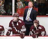 Francois Brisebois (Colgate - 13), Don Vaughan (Colgate - Head Coach), Mike McCann (Colgate - 28) - The Harvard University Crimson defeated the visiting Colgate University Raiders 6-2 (2 EN) on Friday, January 28, 2011, at Bright Hockey Center in Cambridge, Massachusetts.