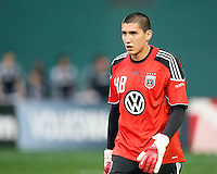 Andrew Quinn #48 of D.C. United during an MLS match against the New England Revolution on April 3 2010, at RFK Stadium in Washington D.C.