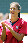 24 July 2005: U.S. midfielder Shannon Boxx, pregame. The United States defeated Iceland 3-0 at the Home Depot Center in Carson, California in a Women's International Friendly soccer match.