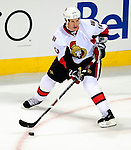17 October 2009: Ottawa Senators right wing forward Shean Donovan in action during the third period against the Montreal Canadiens at the Bell Centre in Montreal, Quebec, Canada. The Senators defeated the Canadiens 3-1. Mandatory Credit: Ed Wolfstein Photo