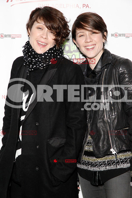 PHILADELPHIA, PA - JANUARY 26 :  Tegan & Sara pictured backstage at Radio 104.5's Winter Jam at The Piazza in Philadelphia, Pa on January 26, 2013  © Star Shoter / MediaPunch Inc /NortePhoto /NortePhoto