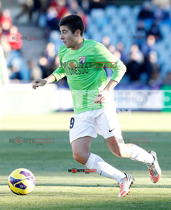 Malaga's Javier Saviola during La Liga match.December 01,2012. (ALTERPHOTOS/Acero) ©/NortePhoto