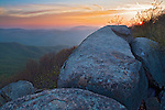 Spring morning vista from the summit of The Priest, Priest Wilderness Area, George Washington National Forest