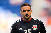 Brandon Barklage (25) of the New York Red Bulls during warmups. The New York Red Bulls and the Columbus Crew played to a 2-2 tie during a Major League Soccer (MLS) match at Red Bull Arena in Harrison, NJ, on May 26, 2013.