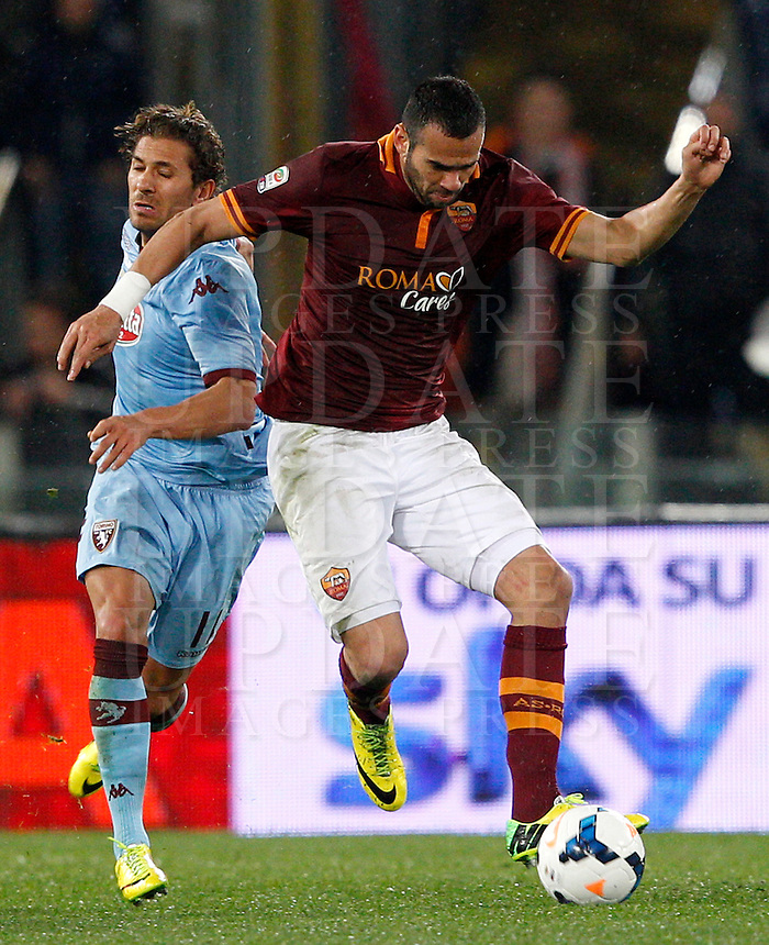 Calcio, Serie A: Roma vs Torino. Roma, stadio Olimpico, 25 marzo 2014.<br />