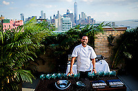 NEW YORK, NY JUNE 29: Peruvian-born Chef Franco Barrio poses as he attends La Fete Opening at Ramscale Studios in Manhattan on June 29, 2016 in New York City. (Photo by VIEWpress)