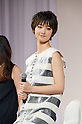 January 16 2012, Tokyo Japan - Japanese model Ayame Goriki attends KDDI's company presentation in Tokyo on Monday, January 16 2012. KDDI released a new pricing plan with discounts of up to nearly 30 percent on smartphone charges from March 1. (Photo by Koichi Mitsui/AFLO)