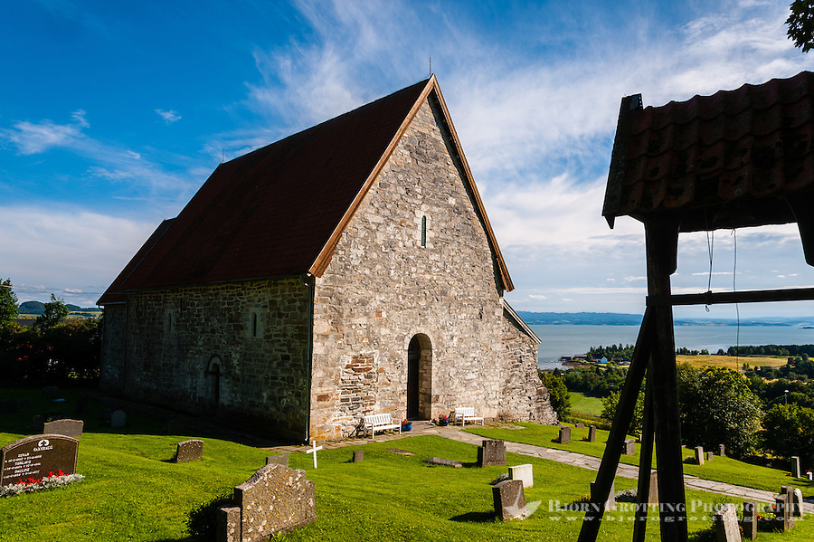 Norway, Inderøy. Sakshaug old church.