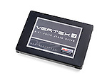 Closeup of SSD OCZ Vertex 4 computer solid state drive isolated on white background