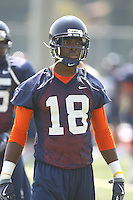 Virginia's Kris Burd during open spring practice for the Virginia Cavaliers football team August 7, 2009 at the University of Virginia in Charlottesville, VA. Photo/Andrew Shurtleff