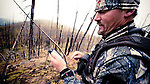 bow hunter, hunter iphone, hunting looking at map on iphone, elk deer hunting, mountains of montana burn area, fall hunting,