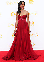 LOS ANGELES, CA, USA - AUGUST 25: Shaun Robinson arrives at the 66th Annual Primetime Emmy Awards held at Nokia Theatre L.A. Live on August 25, 2014 in Los Angeles, California, United States. (Photo by Celebrity Monitor)