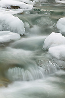 Freeze up on Trevor Creek, Brooks Range, Arctic, Alaska