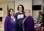 Prospect, CT- 18 January 2017-011817CM16-  Social Moments---From left to right, Vickie Crook of Oakvile, Sarah Mitchell and Chris Culver both co-chairs are photographed during Relay For Life of Greater Waterbury 2017 kick-off celebration at the Prospect Volunteer Fire Department on Wednesday.    Christopher Massa Republican-American