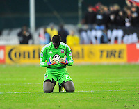 Goal keeper Bill Hamid reacts United fails to advanced to the MLS Cup final. Houston ousted D.C. United from the MLS Cup Final with a 1-1 tie at the RFK Stadium in Washington, D.C. on Sunday, November 19, 2012.  Alan P. Santos/DC Sports Box