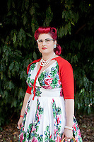 Rebecca Brennen is pictured at The 2012 Historic Houses Trust of NSW annual Fifties Fair at Rose Seidler House, Sydney. Picture James Horan