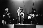 Led Zeppelin 1971 John Paul Jones, Robert Plant and Jimmy Page.© Chris Walter.