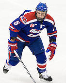 Derek McCoy (UML - 5) - The Boston College Eagles defeated the visiting University of Massachusetts Lowell River Hawks 6-3 on Sunday, October 28, 2012, at Kelley Rink in Conte Forum in Chestnut Hill, Massachusetts.
