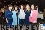 L-R Joan Mullane, Norissa O'Donoghue, Ann Kelleher, Lucey O'Sullivan and Caroline Kissane all from Raheen NS pictured at the Raheen NS Parents Association fundraiser where Donal Courtney performed 'God Has No Country' followed by Elaine Canning singing with Glenflesk Male Choir at the Killarney Racecourse Celtic Steps Arena last Friday night.